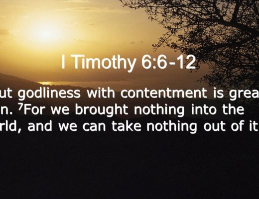 Godliness with Contentment is Great Gain